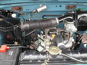 Land Rover Series 3 petrol engine